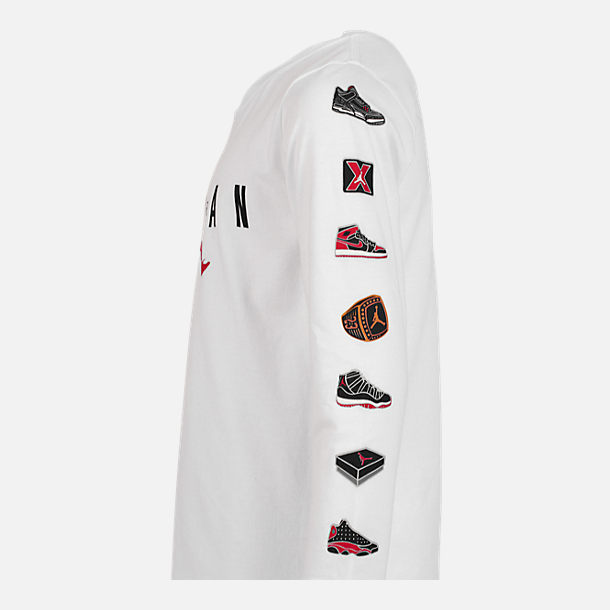 Alternate view of Boys' Air Jordan Pinned Up Long-Sleeve T-Shirt in White