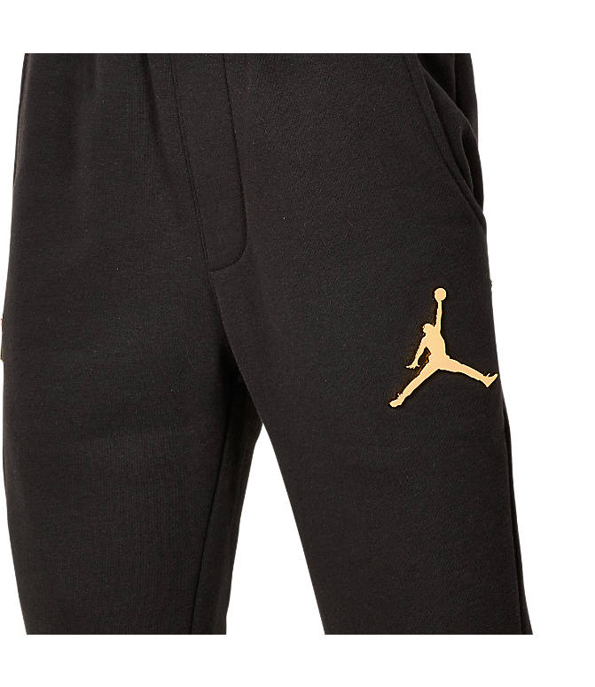 Back view of Boys' Jordan Jumpman Bonded Pants in Black