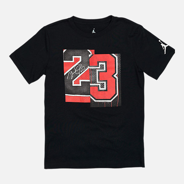 d1f2085a851 Front view of Boys' Jordan Brand 23 T-Shirt in Black/Red