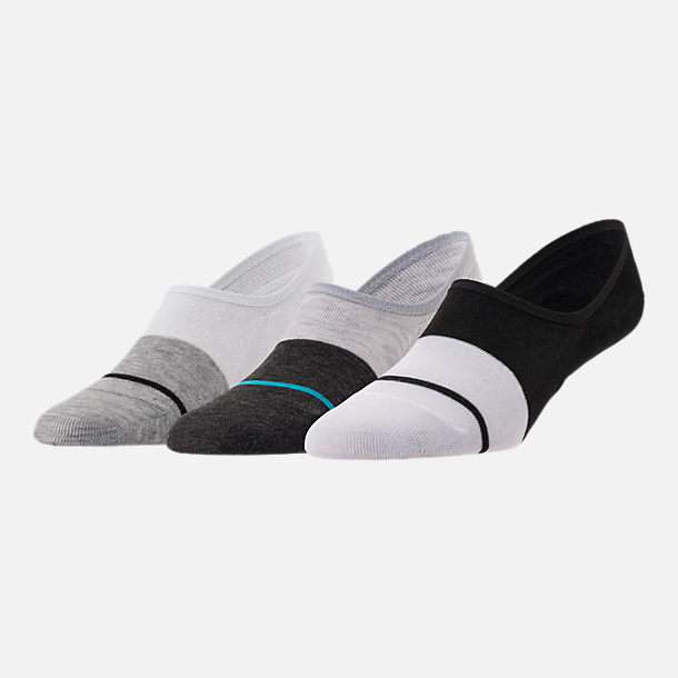 Front view of Men's Finish Line Performance 3-Pack No-Show Socks