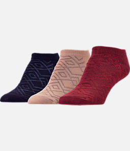 Women's Finish Line Shiny Diamond 3-Pack No-Show Socks
