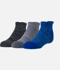 Boys' Finish Line Marl 3-Pack No-Show Socks