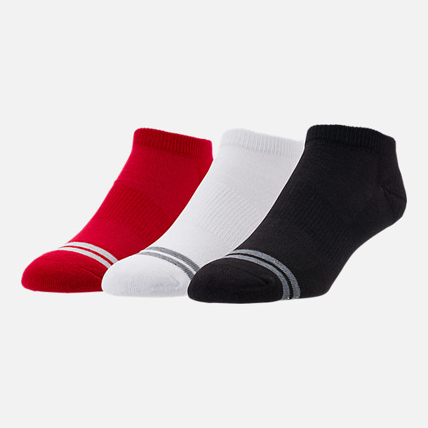 Front view of Men's Finish Line 3-Pack No-Show Socks in Multicolor