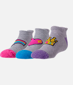 Girls' Finish Line 3-Pack Emoji No-Show Socks