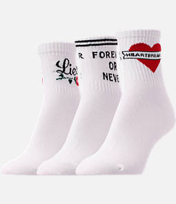 Women's Finish Line Pun 3-Pack Quarter Socks