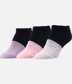 Women's Finish Line 3-Pack Ombre No-Show Socks