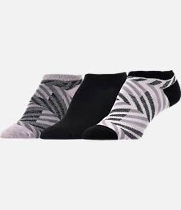 Women's Finish Line Zig Zag 3-Pack No-Show Socks