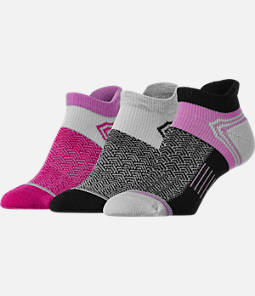 Women's Finish Line Emoji Performance Tab No-Show Socks - 3-Pack
