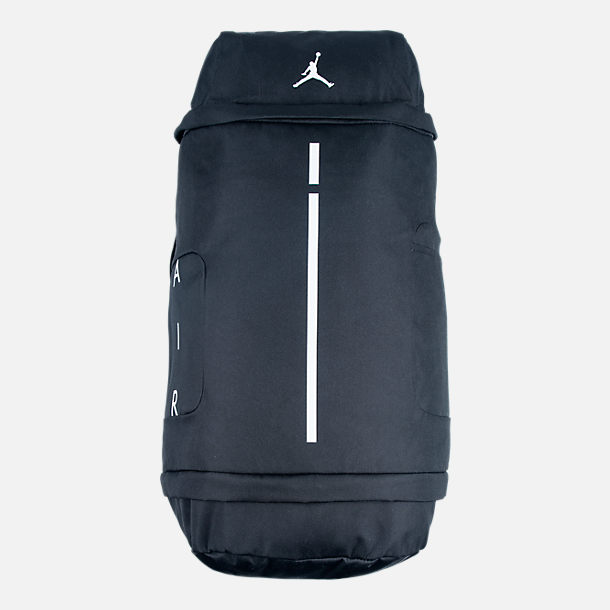 Front view of Jordan Velocity Backpack in Black/White