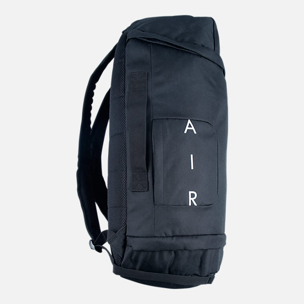 Back view of Jordan Velocity Backpack in Black/White