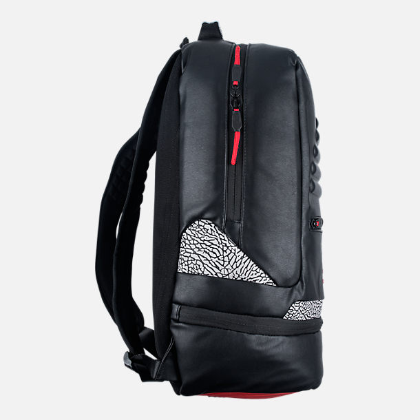 Back view of Air Jordan Retro 3 Backpack in Black