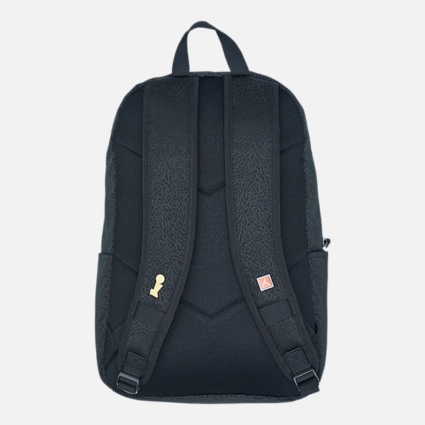 Back view of Air Jordan Pin Backpack in Black/White