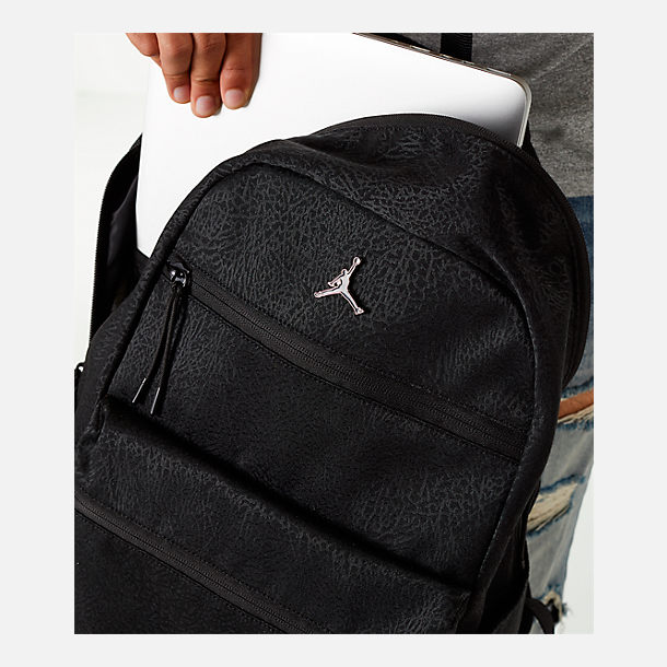Alternate view of Air Jordan Pin Backpack in Black/White