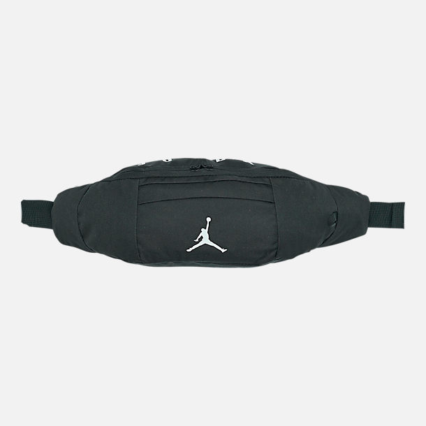 Front view of Air Jordan Crossbody Bag in Black/White