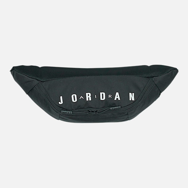 Back view of Air Jordan Crossbody Bag in Black/White