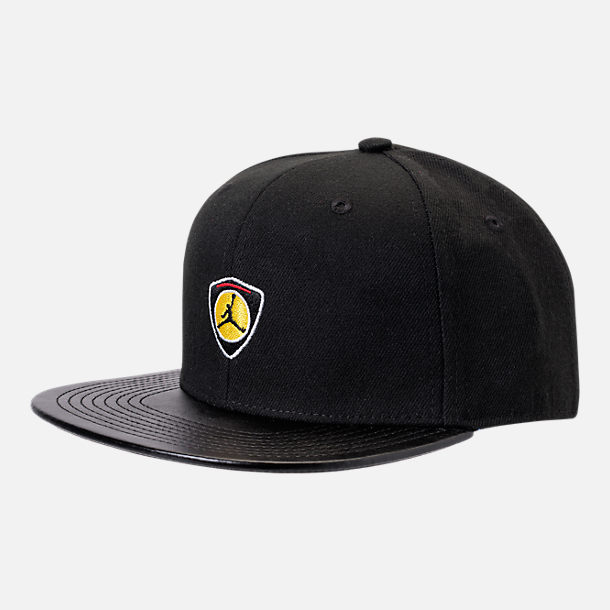 Front view of Kids' Air Jordan Retro 14 Snapback Hat in Black