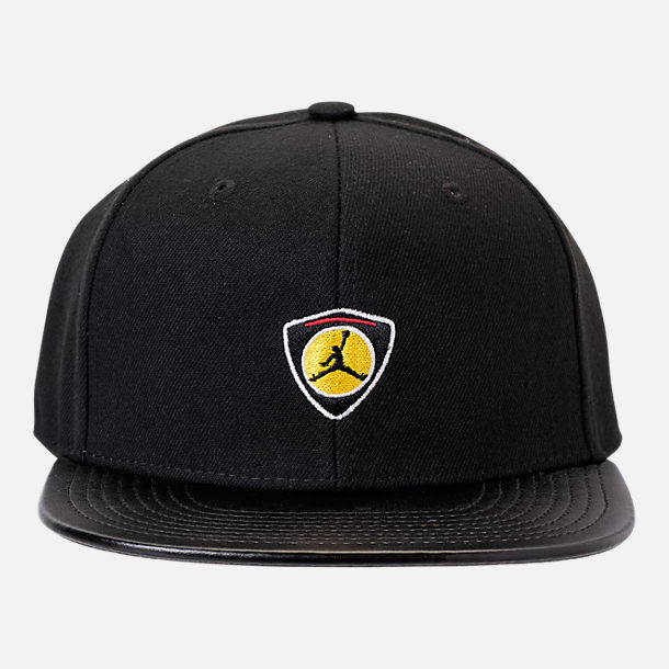 Back view of Kids' Air Jordan Retro 14 Snapback Hat in Black