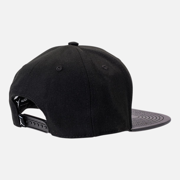 Alternate view of Kids' Air Jordan Retro 14 Snapback Hat in Black