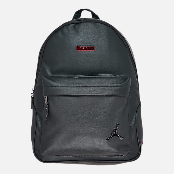 Front view of Air Jordan Regal Air Backpack in Black/Gym Red