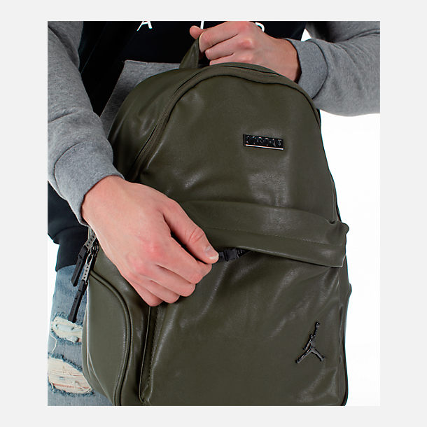 Alternate view of Air Jordan Regal Air Backpack in Olive/Gunmetal