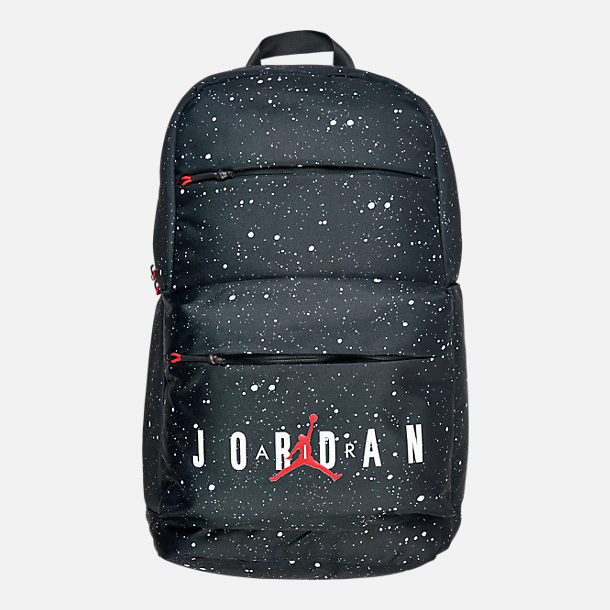 Front view of Air Jordan Splatter Backpack