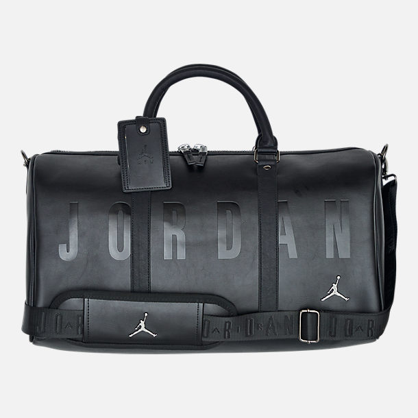 f5a1c8c0445d96 Front view of Air Jordan Jumpman Duffel Bag