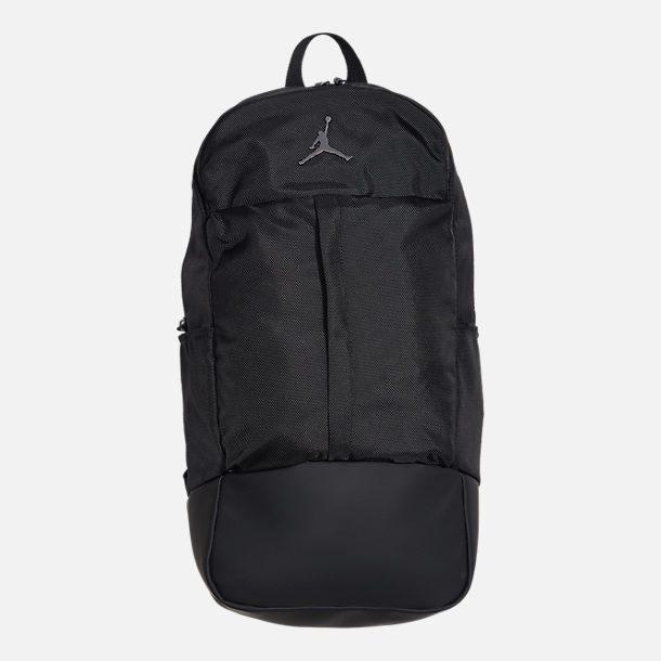 Front view of Air Jordan Fluid Backpack in Black