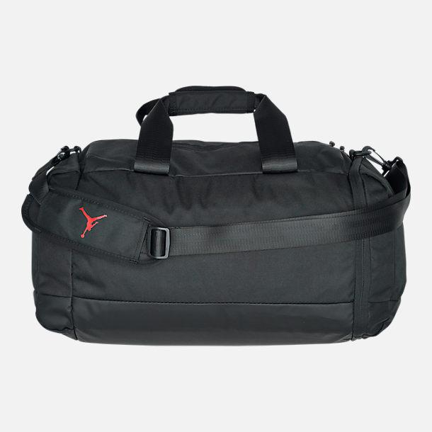 Back view of Air Jordan Duffel Bag in Black White 91ee07b2a4738
