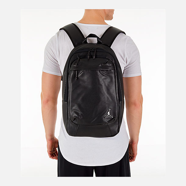 Alternate view of Air Jordan Legacy Backpack in Black/Shiny Gunmetal