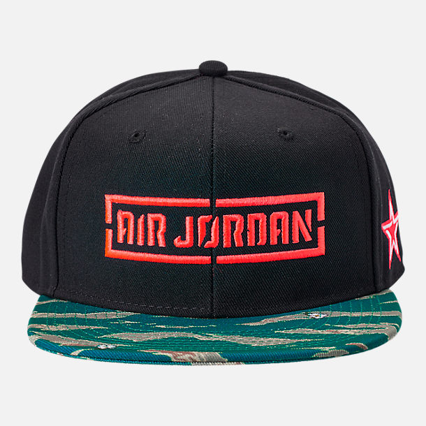 Alternate view of Kids' Jordan C.O.F. Snapback Hat in Black/Tiger Camo