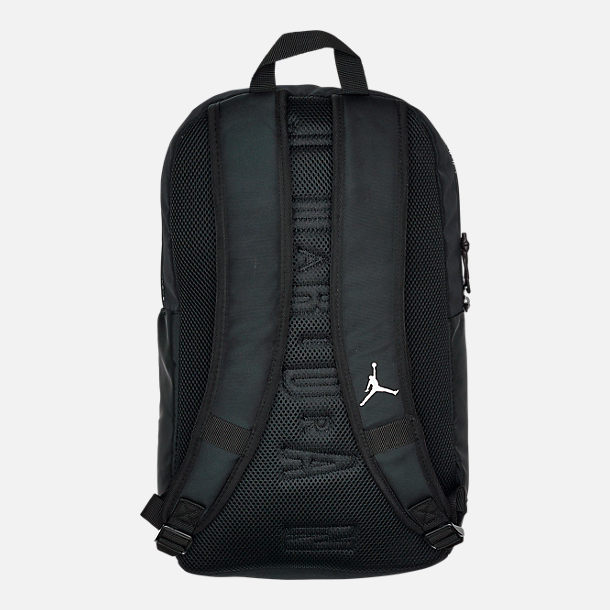 Back view of Air Jordan Classic DNA Backpack in Black/White