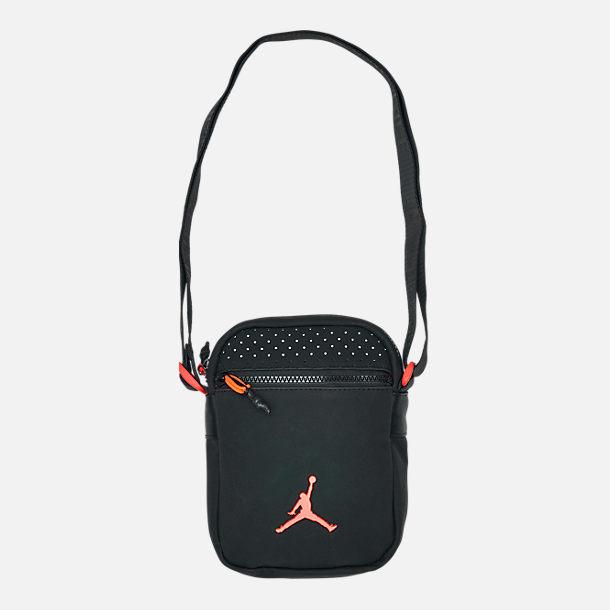 029077df05f Front view of Jordan AJ6 Festival Bag in Black/Infrared