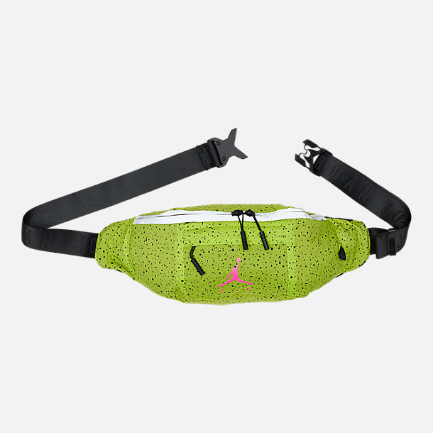 Front view of Jordan Poolside Waist Pack in Cyber/Hyper Pink