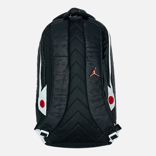 Back view of Air Jordan Retro 13 Backpack in Black/White