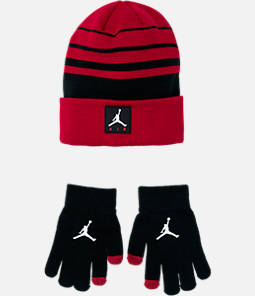 Kids' Jordan Air Knit Beanie Hat and Glove Set