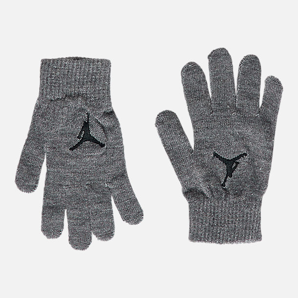 Alternate view of Kids' Air Jordan Heather Beanie Hat and Gloves Set in Grey Heather