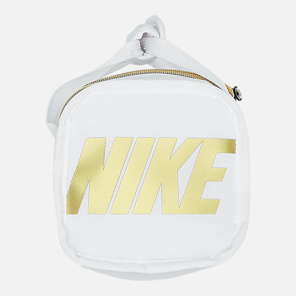 Back view of Nike Brasilia Fuel Lunch Tote in White/Gold