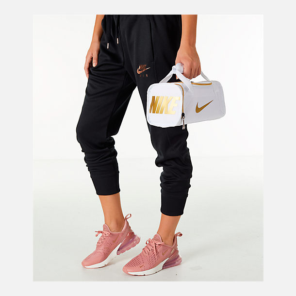 Alternate view of Nike Brasilia Fuel Lunch Tote in White/Gold