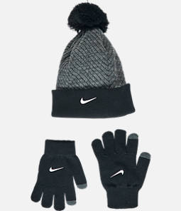 Kids' Nike Hazard Beanie Hat and Gloves Set