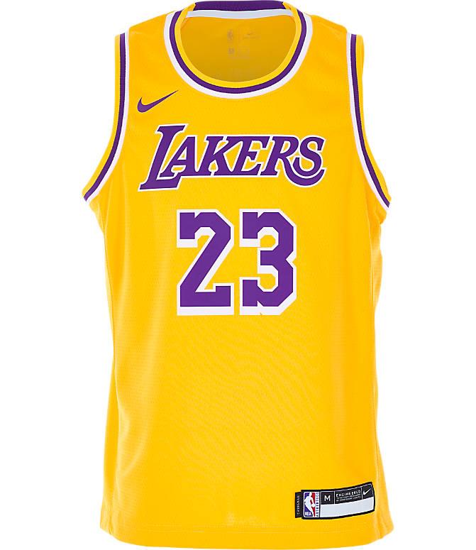 1905ecc99 Back view of Kids  Nike Los Angeles Lakers NBA LeBron James Icon Edition Swingman  Jersey