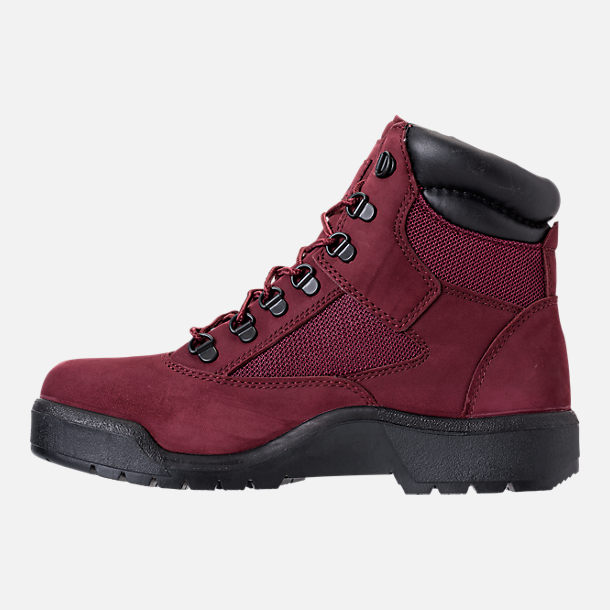 Left view of Men's Timberland 6 Inch Field Boots in Port