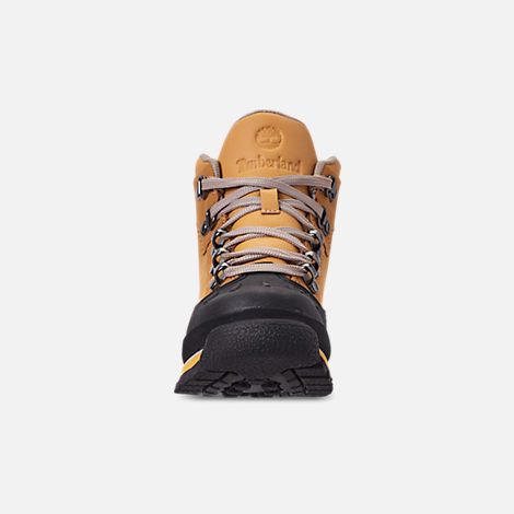Front view of Boys' Preschool Timberland Euro Hiker Shell Toe Boots in Wheat Nubuck