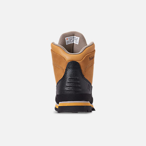 Back view of Boys' Preschool Timberland Euro Hiker Shell Toe Boots in Wheat Nubuck