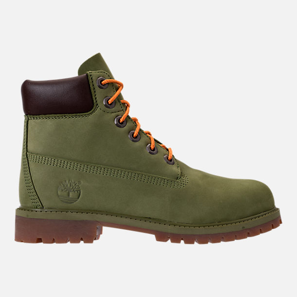 Right view of Kids' Grade School Timberland 6 Inch Classic Boots in Pesto