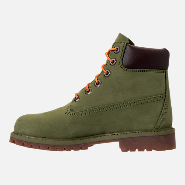 Left view of Kids' Grade School Timberland 6 Inch Classic Boots in Pesto