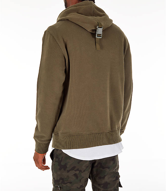 Back Left view of Men's Timberland Gaiter Hoodie in Grape Leaf