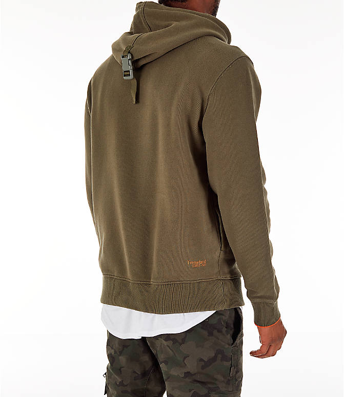 Back Right view of Men's Timberland Gaiter Hoodie in Grape Leaf