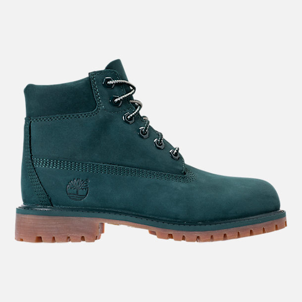 Right view of Boys' Preschool Timberland 6 Inch Premium Boots in Dark Green