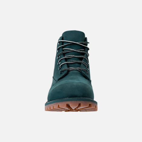 Front view of Boys' Preschool Timberland 6 Inch Premium Boots in Dark Green
