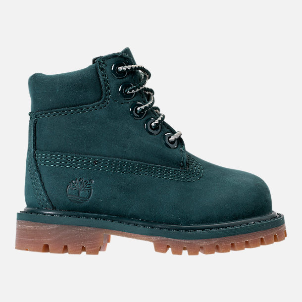 Right view of Kids' Toddler Timberland 6 Inch Premium Boots in Dark Green